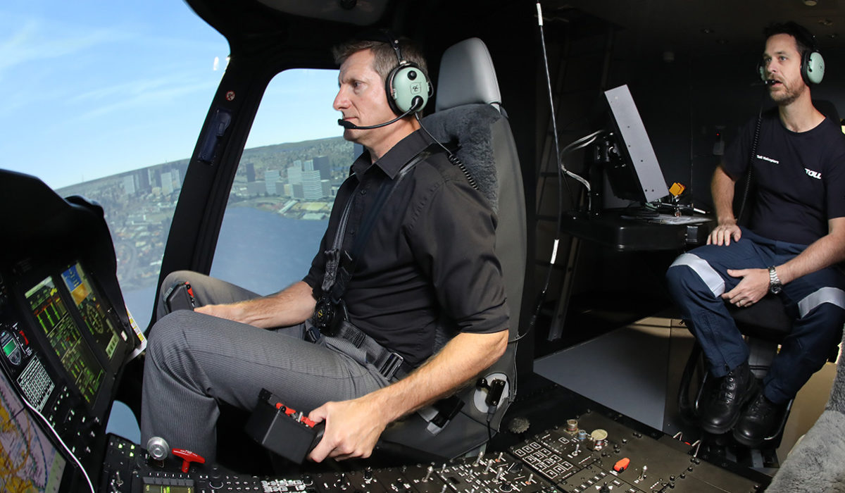 Toll Helicopters new AW139 simulator on its way to Sydney