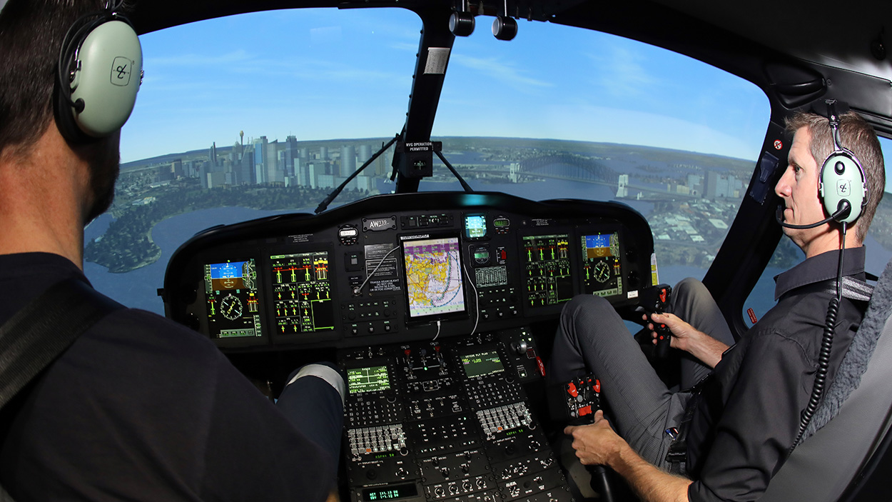 AW139 helicopter simulator experience